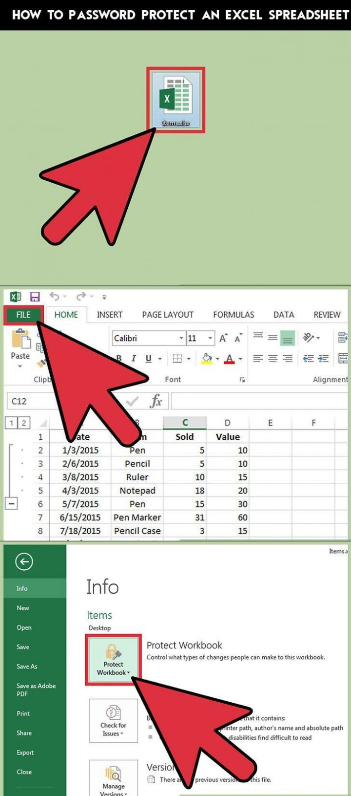 Password Excel Spreadsheet In How To Password Protect An Excel Spreadsheet  Practical Information