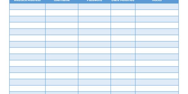 Password Excel Spreadsheet Regarding Start Your Password Tracking System Today!  Helpmerick