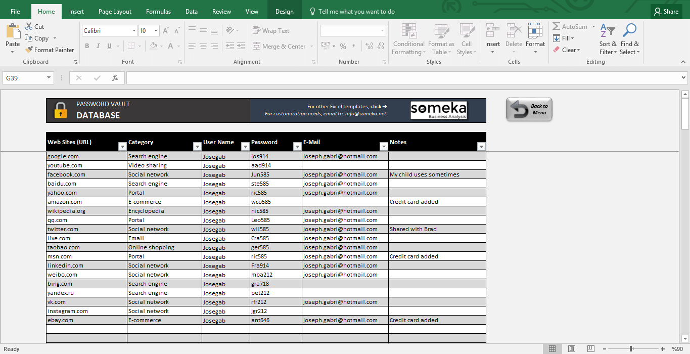 Password Manager Spreadsheet Regarding Password Keeper  Free Password List Template In Excel