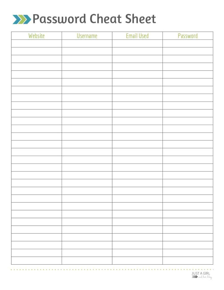 Password Manager Spreadsheet Within 39 Best Password List Templates Word, Excel  Pdf  Template Lab