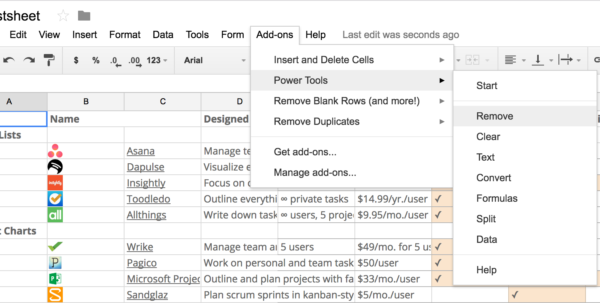 Patch Management Spreadsheet Inside 50 Google Sheets Addons To Supercharge Your Spreadsheets  The