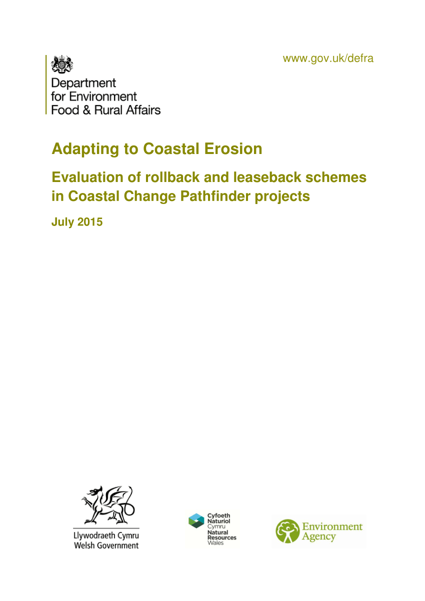 Pathfinder Spreadsheet throughout Pdf Adapting To Coastal Erosion: Evaluation Of Rollback And