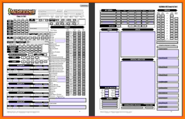 Pathfinder Spreadsheet Within 5  Pathfinder Character Sheet Spreadsheet  Balance Spreadsheet