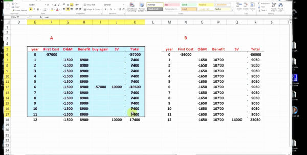 Pavement Life Cycle Cost Analysis Spreadsheet With Life Cycle Cost Analysis Spreadsheet Or Pavement Life Cycle Cost