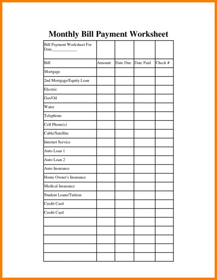 Payment Spreadsheet Template In Paid Bills Template Spreadsheet  Bardwellparkphysiotherapy