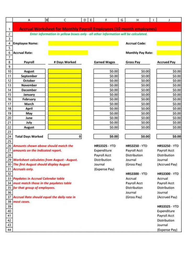 Payroll Accrual Spreadsheet Inside Payroll Report Template Variance Certified Example Reconciliation