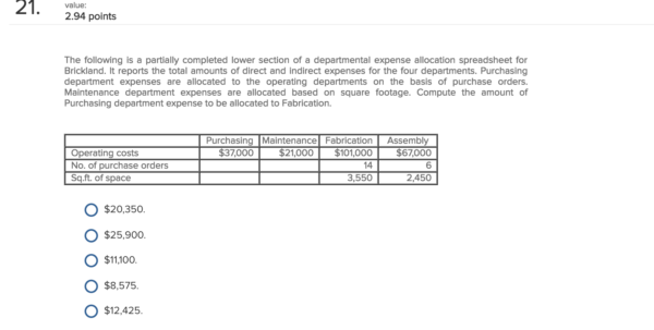 Payroll Allocation Spreadsheet With Regard To Solved: The Following Is A Partially Completed Lower Secti