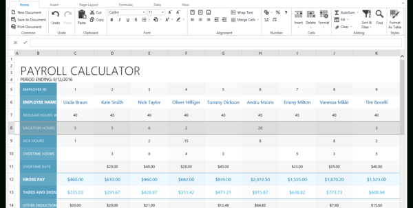 Payroll Calculator Spreadsheet In Asp Spreadsheet  Excel Inspired Spreadsheet Control  Devexpress