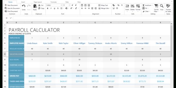 Payroll Calculator Spreadsheet In Asp Spreadsheet  Excel Inspired Spreadsheet Control  Devexpress