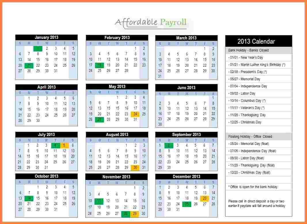 Payroll Spreadsheet 2018 Intended For 2018 Payroll Calendar Semi Monthly  Spreadsheet Collections
