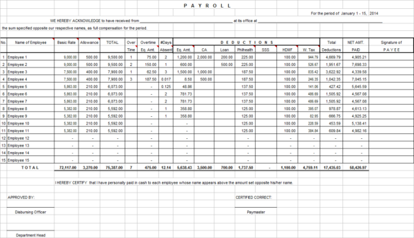 Payroll Spreadsheet Examples Intended For Example Of Payroll Calculation Spreadsheet Calculator Excel And