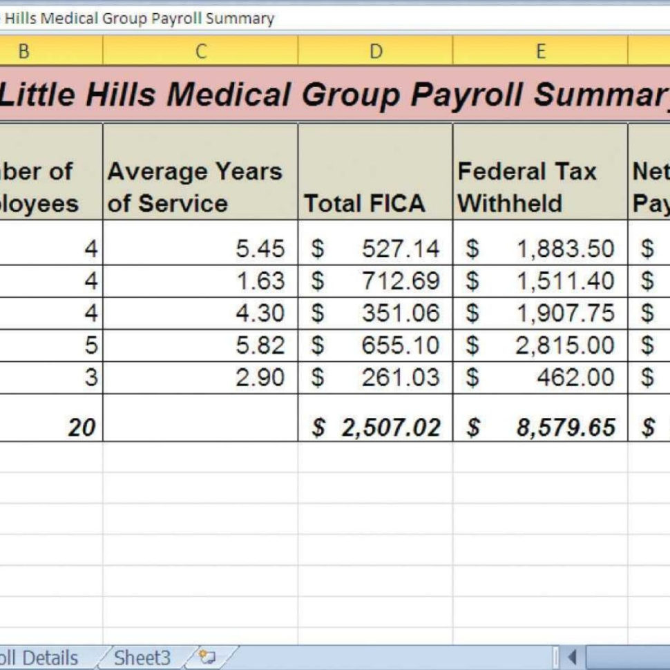 Payroll Spreadsheet Excel Throughout Payroll Sample Excel  Template With Payroll Spreadsheet Template