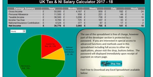 Payroll Spreadsheet Uk Throughout Uk Salary Calculator Template Spreadsheet  Eexcel Ltd