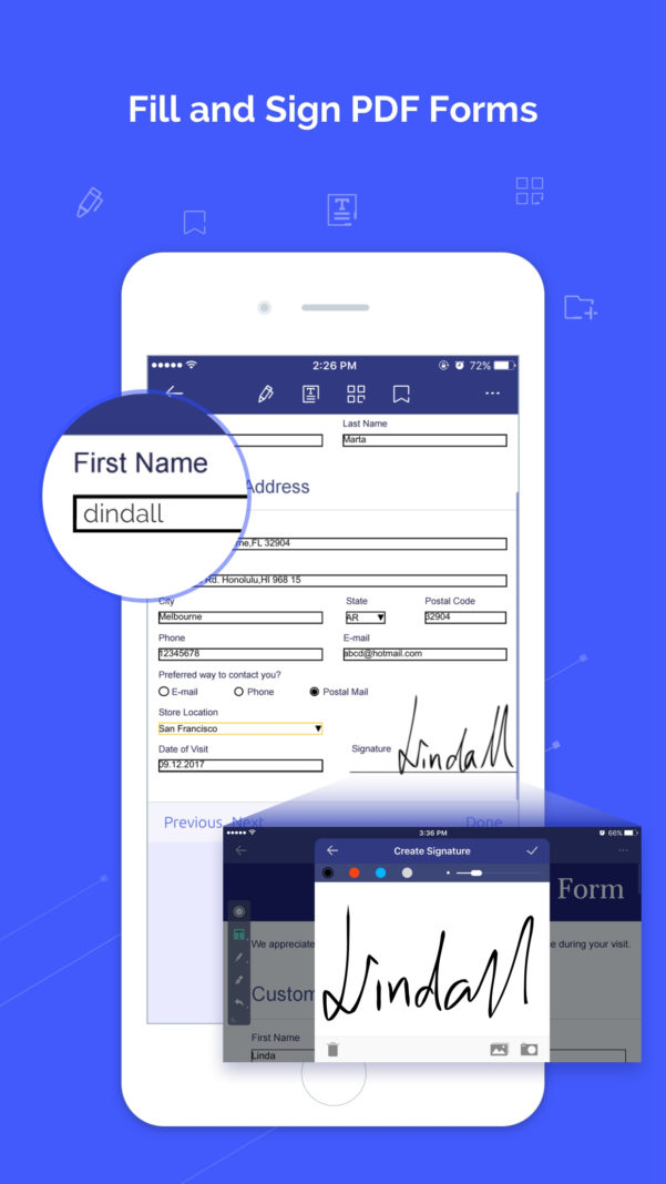 Pdf Form To Excel Spreadsheet Inside Top 6 Free Apps To Fill Pdf Forms On Iphone  Wondershare Pdfelement