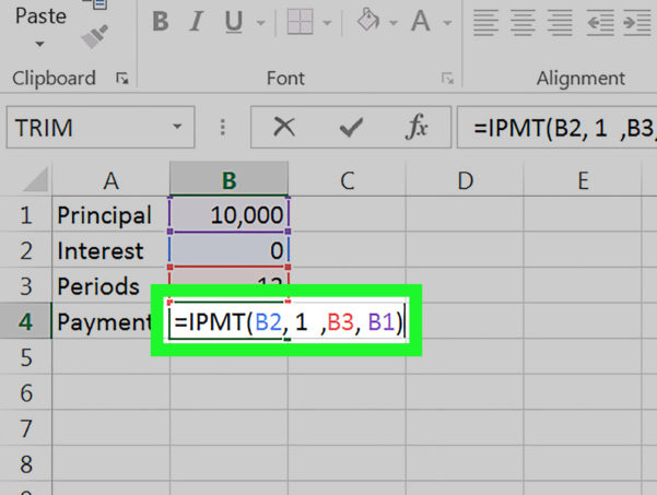 Percentage Of Completion Spreadsheet Intended For How To Calculate An Interest Payment Using Microsoft Excel