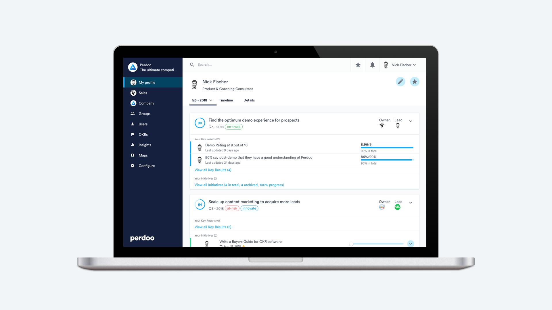 Perdoo Okr Spreadsheet Within Perdoo  Okr Software Comparison