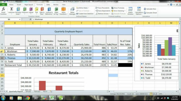 Performance Spreadsheet For Ms Excel Tutorial Employee Sales Performance Report Analysis Samples