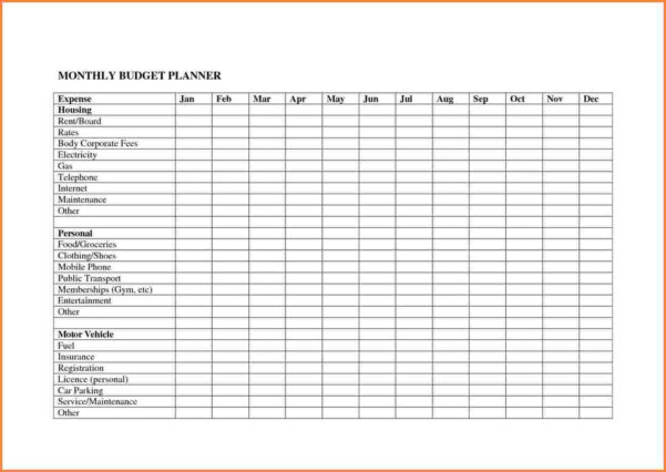 Personal Budget Planner Spreadsheet With Personal Budget Planner Spreadsheet  Resourcesaver