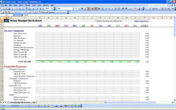 Personal Business Expenses Spreadsheet Throughout Personal Expenses Spreadsheet Expense Lovely Home Bud Worksheet Amp