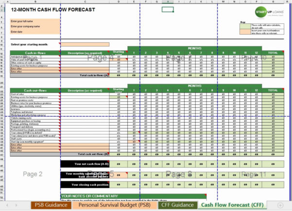 Personal Cash Flow Spreadsheet Template Free For Business Cash Flow Spreadsheet Plan Projections Template Excel