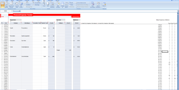 Personal Expense Tracker Spreadsheet With Track My Spending Spreadsheet And Excel Personal Expense Tracker 7