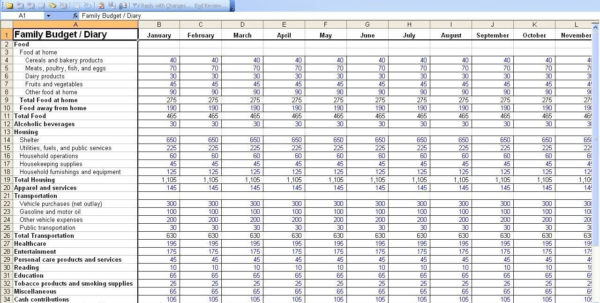 Personal Expenses Spreadsheet For Monthly Expense Sheet Template Excel And Personal Expenses
