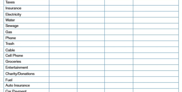 Personal Expenses Spreadsheet With Regard To Personal Expenses Spreadsheet Income Vs Monthly Budget Template