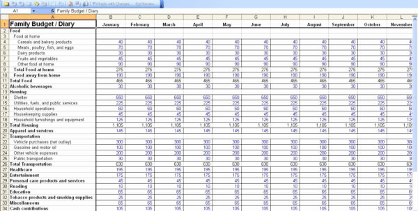 Personal Finance Spreadsheet Throughout Personal Finance Spreadsheet Free On Spreadsheet Software
