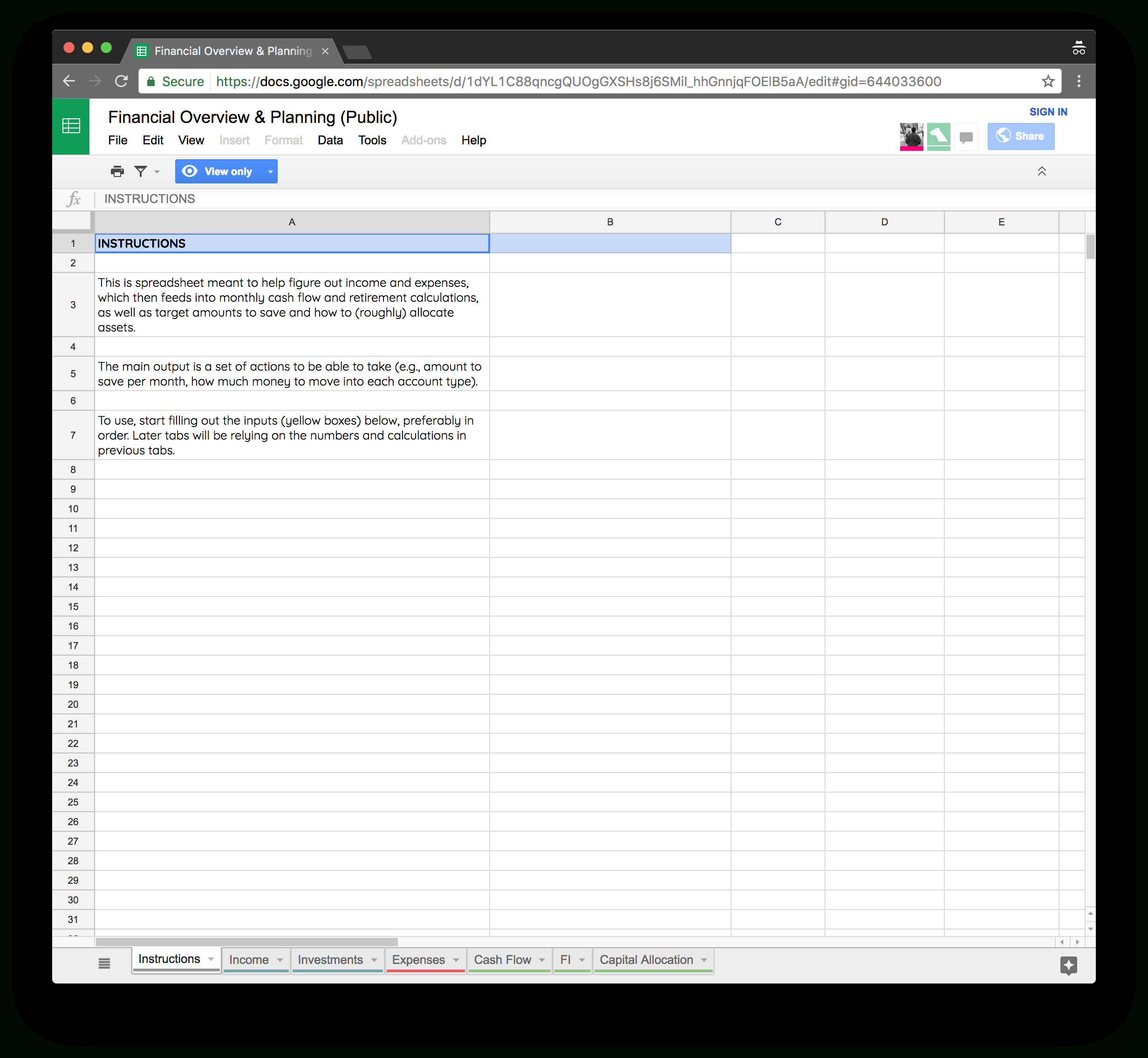 Personal Financial Planning Spreadsheet with regard to I Built My Own Financial Planning Spreadsheet
