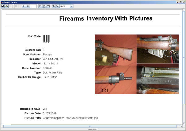 Personal Firearm Record Spreadsheet Pertaining To Firearms Gun Template  Nm Collector Software