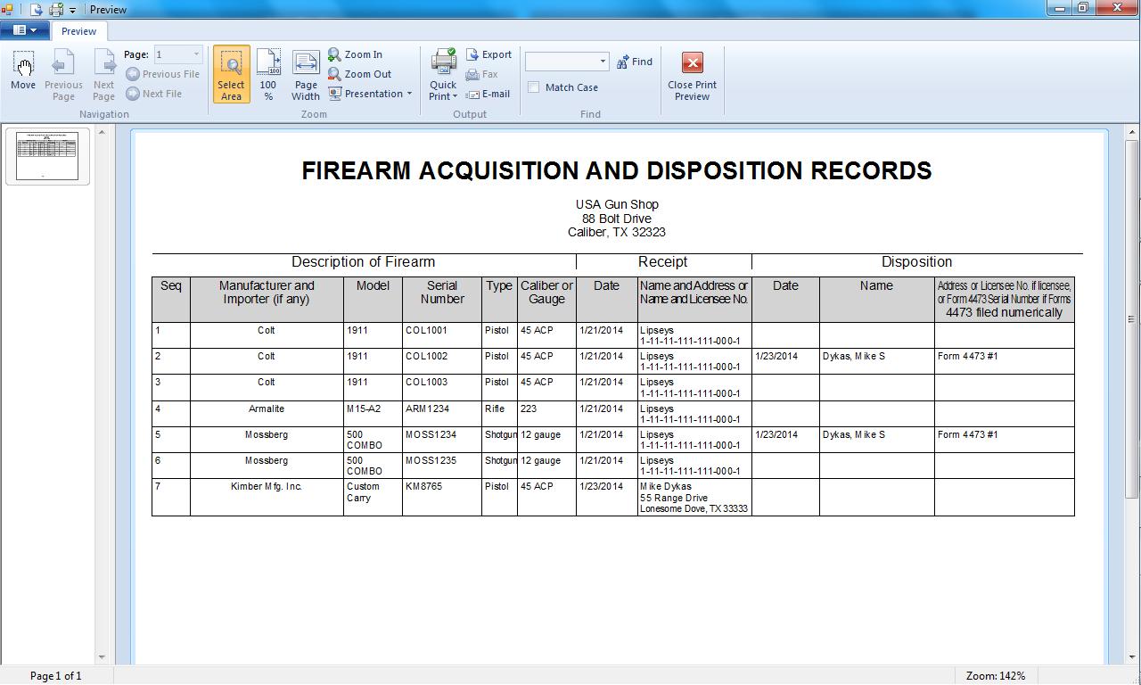 Personal Firearm Record Spreadsheet Regarding Printable Firearms Record Book  Cool House Inteiror Ideas •