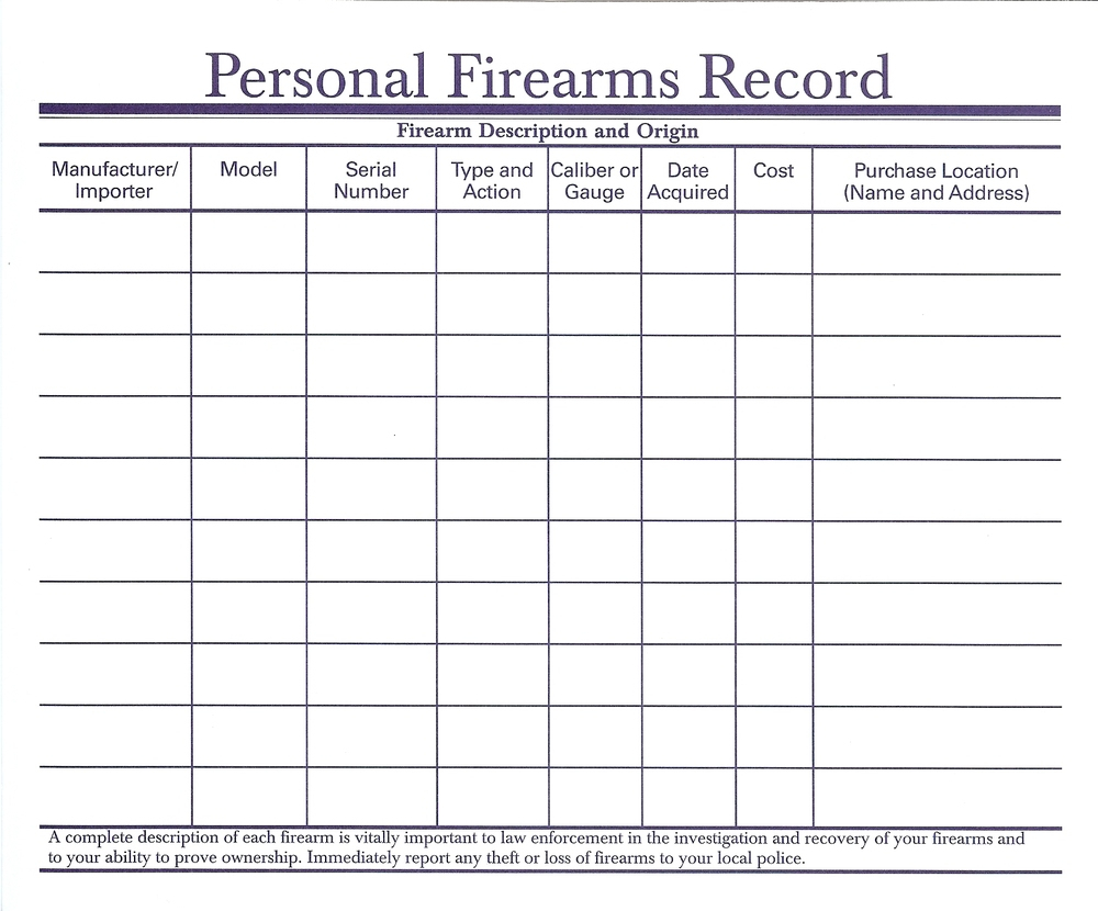 Personal Firearm Record Spreadsheet Within Gun Inventoryheet As Stronglifts 5X5 Daykem Org On Online Google