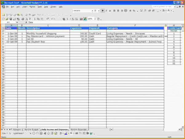 Personal Income And Expenses Spreadsheet In Personal Income And Expenses Spreadsheet  Aljererlotgd