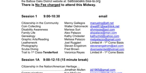 Personal Management Merit Badge Budget Spreadsheet Within Merit Badge Midway Schedule
