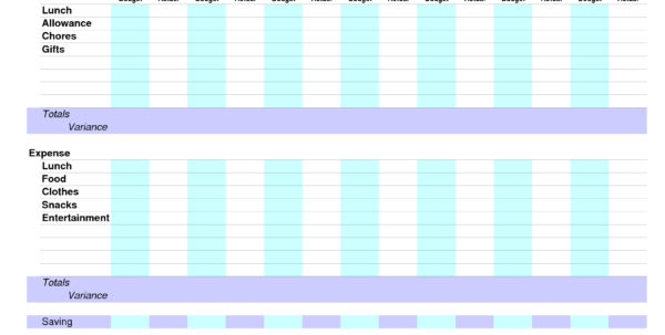 Personal Management Merit Badge Budget Spreadsheet Within Personal Managementrit Badge Chart Selo L Ink Co Spreadsheet Example