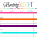 Personal Monthly Budget Spreadsheet Regarding Monthly Bills Template Spreadsheet Personal Budget More Templates
