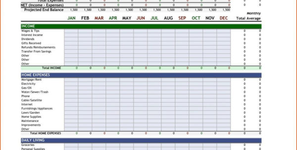 Personal Monthly Budget Spreadsheet With Free Personal Monthly Budget Spreadsheet Excel Best Document