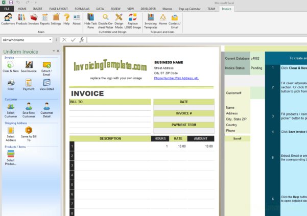 Personal Trainer Spreadsheet Template With Regard To Invoice Design For Personal Trainer Or Fitness Instructor