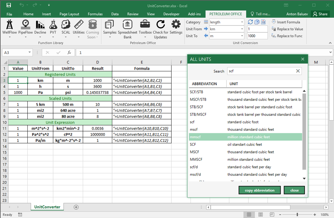 Petroleum Engineering Spreadsheet Excel Intended For Petroleum Engineering Calculations In Microsoft Excel