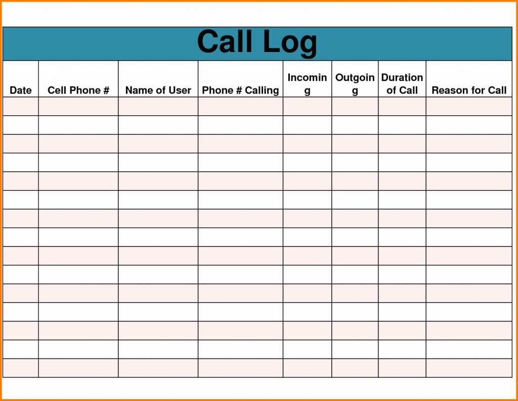 phone call tracking spreadsheet  u2013 db