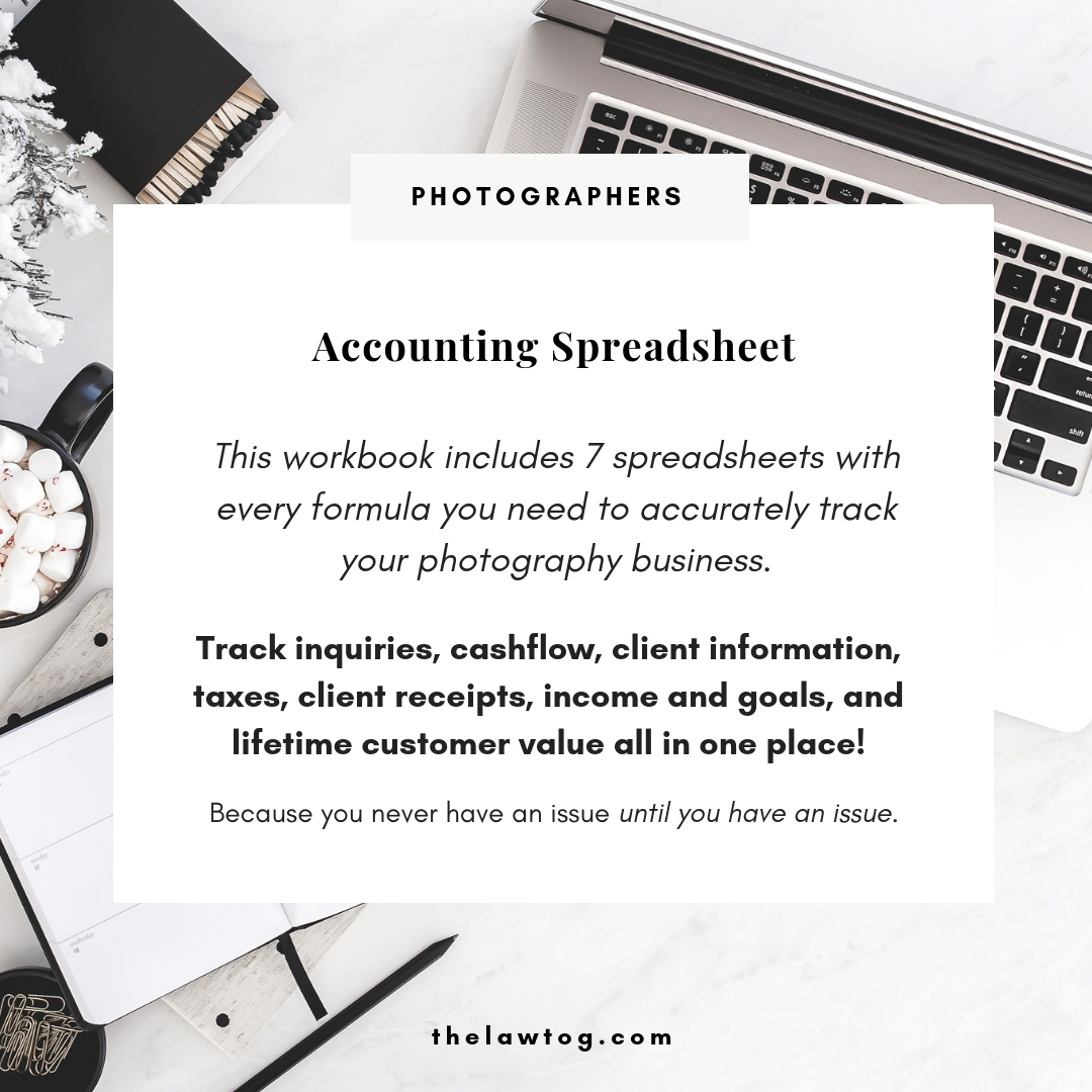 Photography Accounting Spreadsheet Inside Accounting Spreadsheet For Photographers