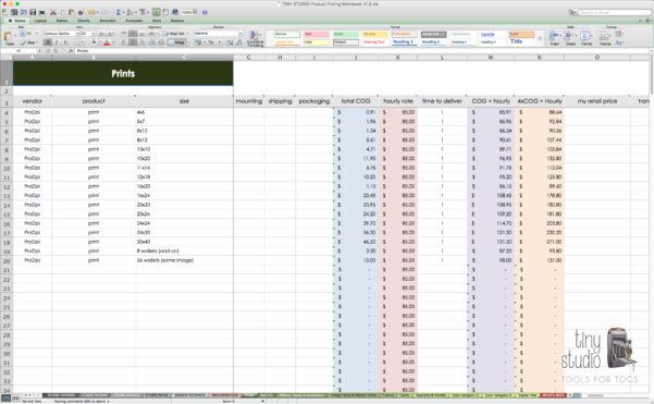 Photography Pricing Spreadsheet Within Photography Pricingpreadsheet As Excel Expenses  Askoverflow