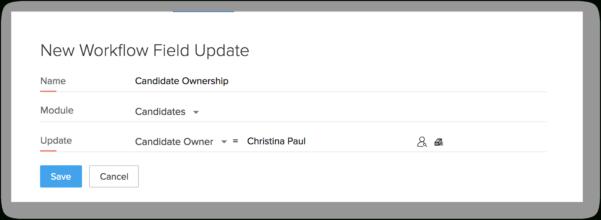 Photography Workflow Spreadsheet Inside Workflow Field Updates  Online Help  Zoho Recruit