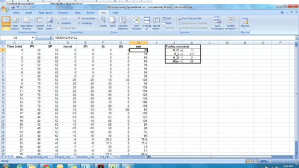 Pid Loop Tuning Spreadsheet Pertaining To Pid Simulator  Free Tools Collection  Software And Tools