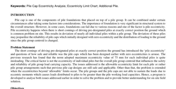 Pile Cap Design Spreadsheet Pertaining To Pdf Pile Cap Eccentricity Analysis For Two Columns Combined Pile Cap