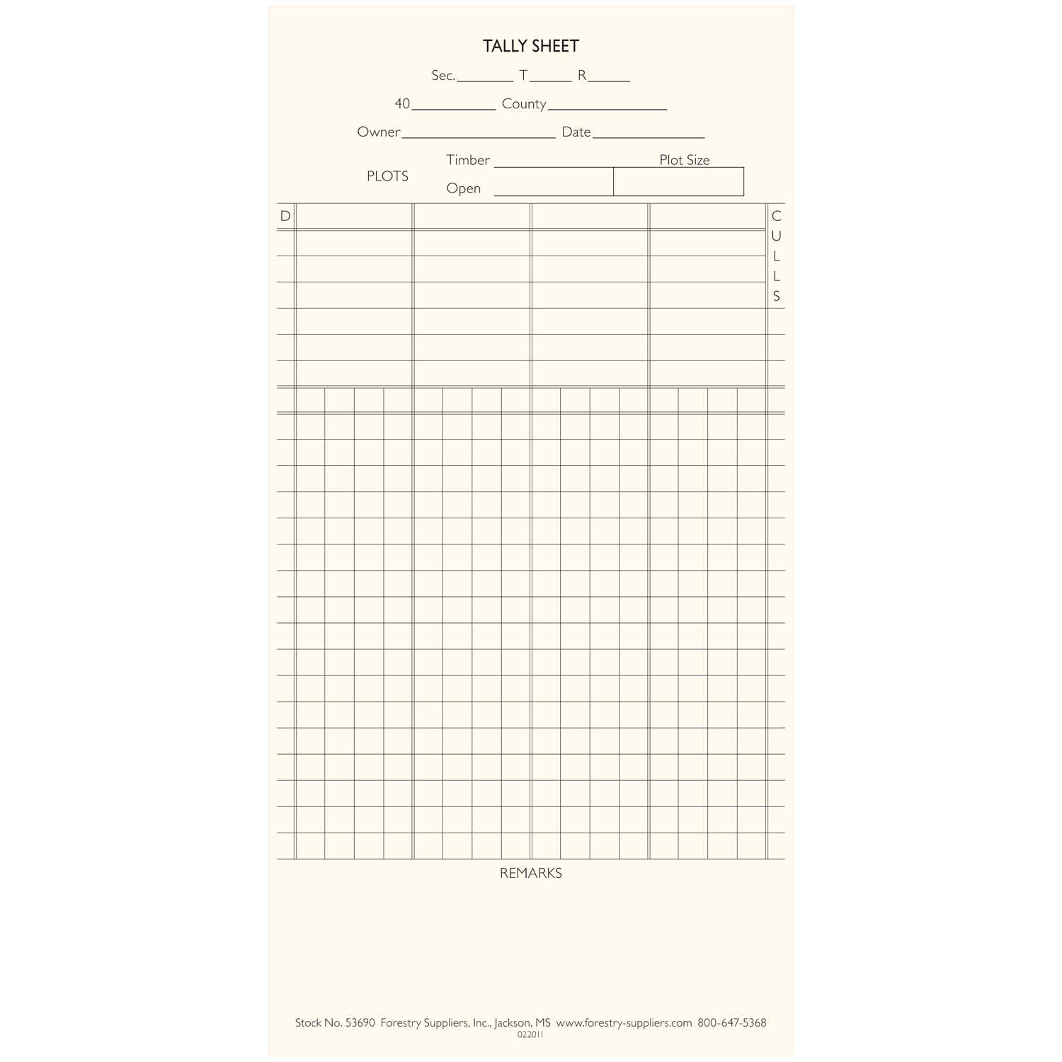 Pipe Tally Spreadsheet Inside Tally Sheets For Tall  Forestry Suppliers, Inc.