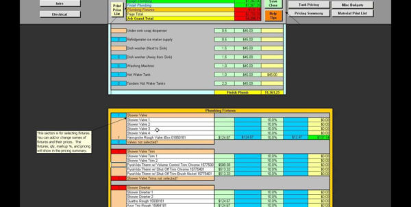 Plumbing Estimating Spreadsheet With Regard To Piping Takeoff Spreadsheet Fresh Beautiful Plumbing  Pywrapper