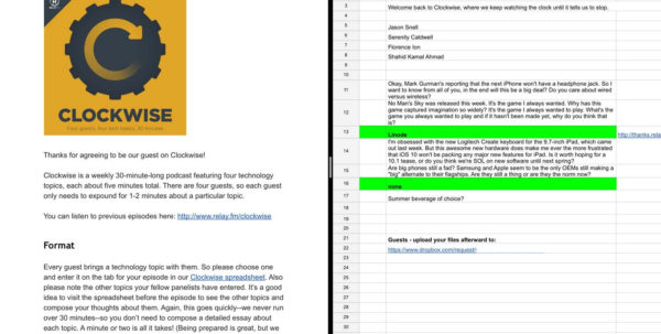 Pm Podcast Episode Spreadsheet With Regard To Google Docs, Sheets Get Ios 9 Split Screen Finally  Six Colors