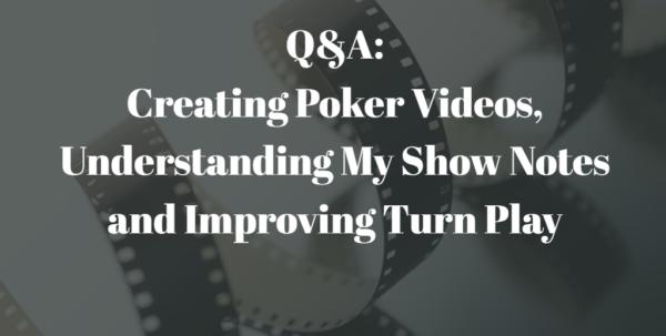 Poker Odds Spreadsheet Pertaining To Qa: Making Poker Videos, Show Notes  Better Turn Play  Podcast 153