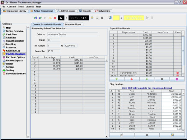 Poker Tournament Formula Spreadsheet Intended For Dr. Neau's Tournament Manager